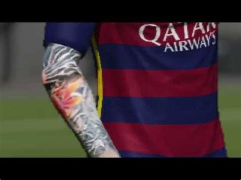 messi watch tattoo fifa 17 messi tattoo youtube