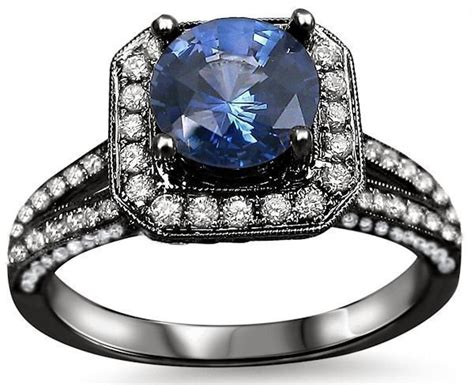 Blue Sapphire 6 15ct 2 15ct blue sapphire engagement ring 18k