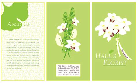 Wedding Flowers Brochure by Florist Wedding Brochure On Behance