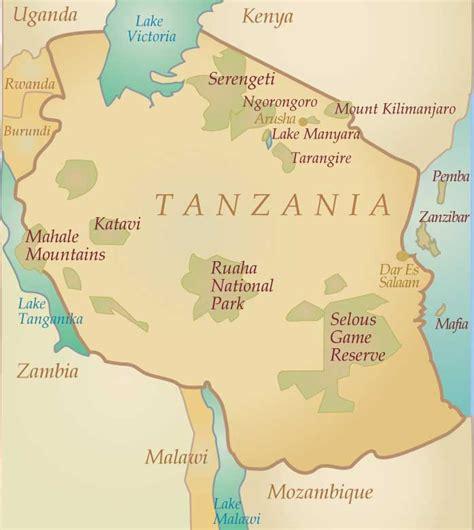 map ya africa tanzania the land of kilimanjaro s