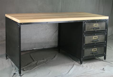 industrial style desk with drawers combine 9 industrial furniture tags workstation