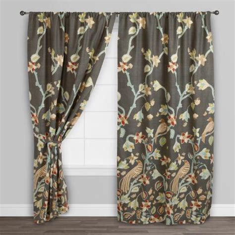 bird of paradise curtains bird of paradise pakshi curtains set of 2 world market