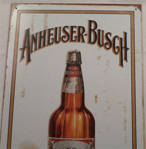 busch light tin sign ab anheuser busch bottled beer vintage inspired patina 8 5