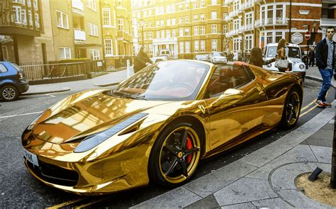 gold ferrari 458 italia chrome gold ferrari 458 spider one of the most unique