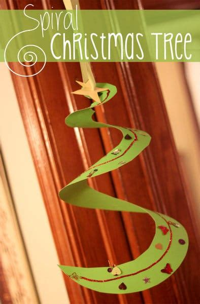 spiral christmas tree craft for kids hands on as we grow