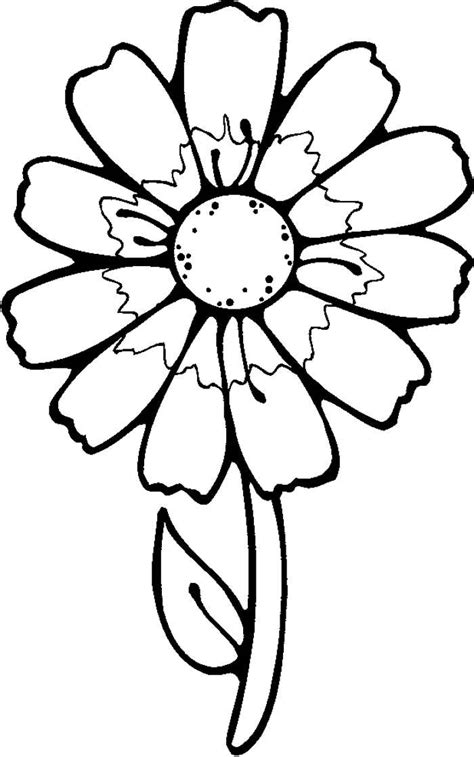 flower to color flowers to color for az coloring pages