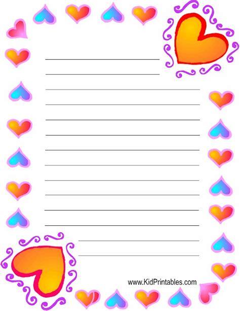 free printable heart stationery kid printables printable heart stationery