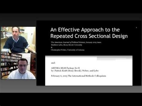 repeated cross sectional design matthew lebo quot an effective approach to the repeated cross