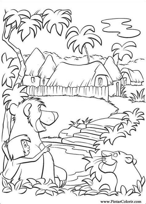 Desenhos Para Pintar e Colorir O Livro Da Selva - Imprimir