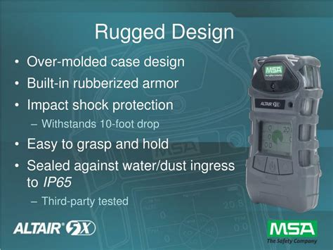 rugged design ppt altair 174 5x multigas detector powerpoint