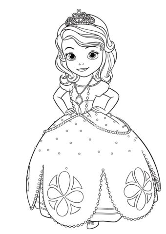 sofia coloring pages pdf princess sofia coloring page free printable coloring pages