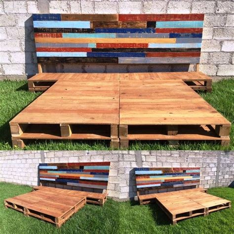 Shipping Pallet Bed Frame Best 25 Wooden Pallet Beds Ideas On Pallet Platform Bed Wooden Platform Bed And