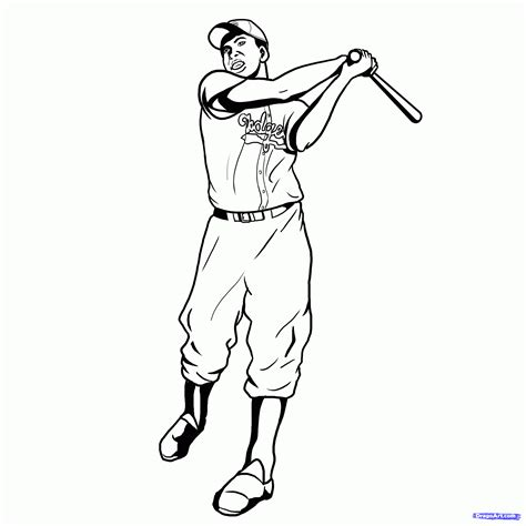 coloring page for jackie robinson jackie robinson coloring page coloring pages