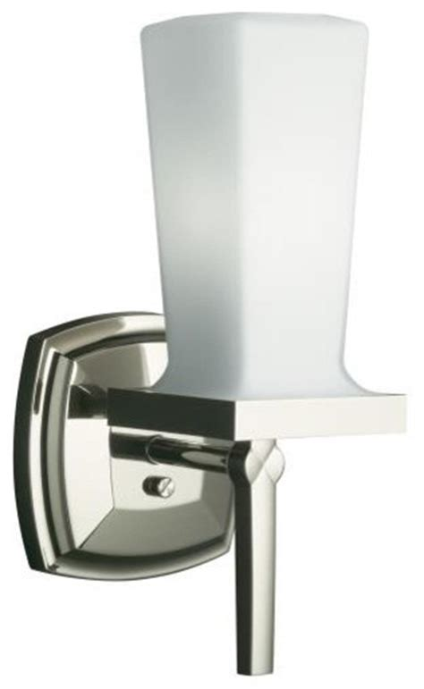 kohler bathroom lighting kohler k 16268 sn margaux single sconce in polished nickel