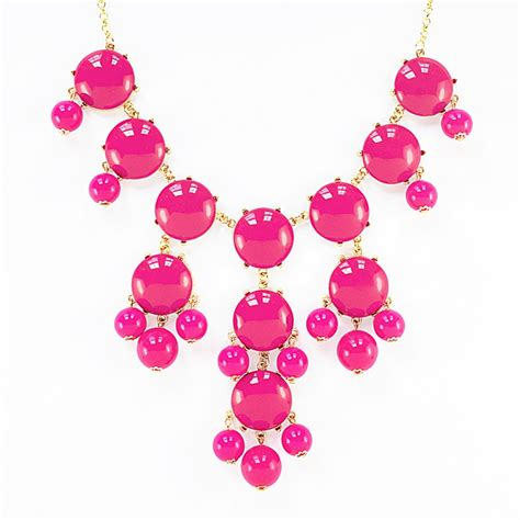 pink necklace pink necklace gold chain bib necklace with