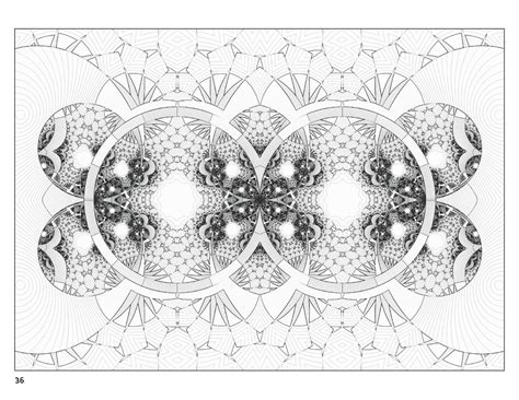 free coloring pages of fractal art