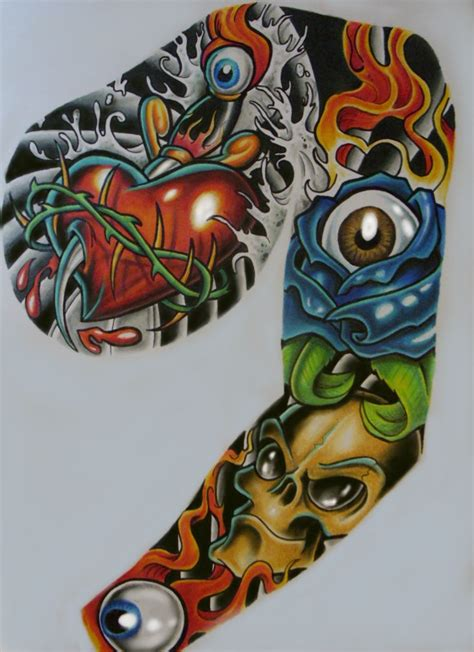 random sleeve tattoo designs sleeve better pic by chrisxart on deviantart