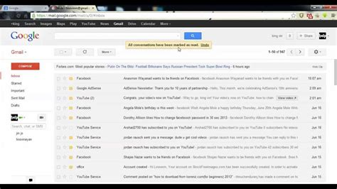 How To Search For Unread Emails In Gmail How To All Unread Emails As Read In Gmail 2014