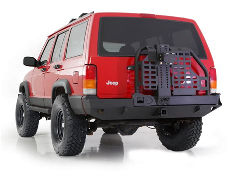 jeep xj bumper smittybilt 76851 xrc rear bumper with tire carrier for 84