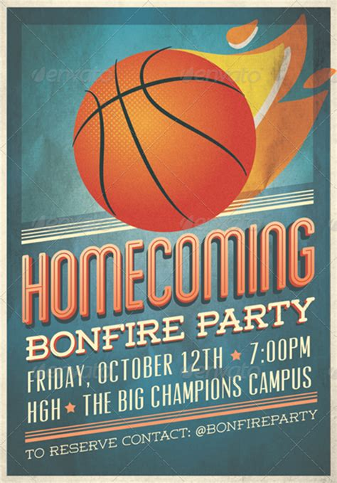 Homecoming Flyer Invitation By Tomodachi Graphicriver Homecoming Flyer Template
