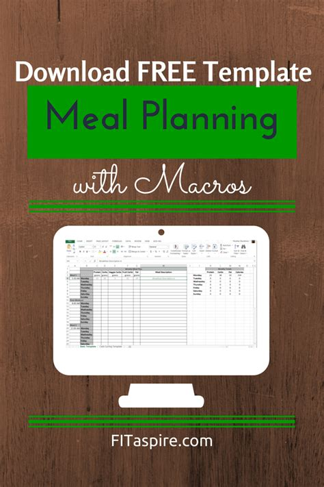 Meal Planning With Macros Free Template Fitaspire Macro Meal Planner Template
