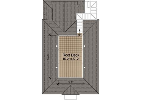 roof deck plan foundation porches cottage piling foundation roof deck 2900 sf