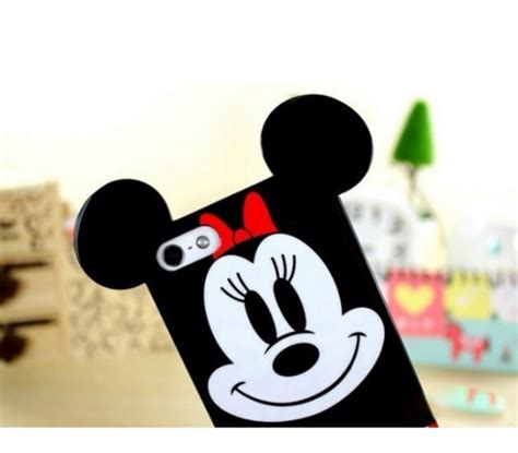 Ear Micky Softcase For Iphone 4 4s 5 5s 5e Samsung Note 3 3d soft mickey minnie mouse ears cover for iphone 4 4s 5 5s 6 6 plus cases covers