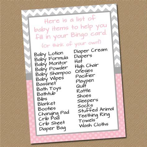 list of baby shower gifts digital printable decor chevron baby