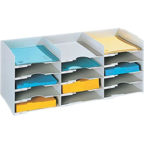 mail desk organizer horizontal desk organizer 15 compartments in file and