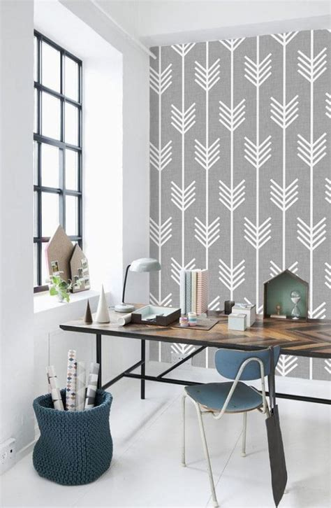office wallpaper ideas 27 stylish geometric home office d 233 cor ideas digsdigs