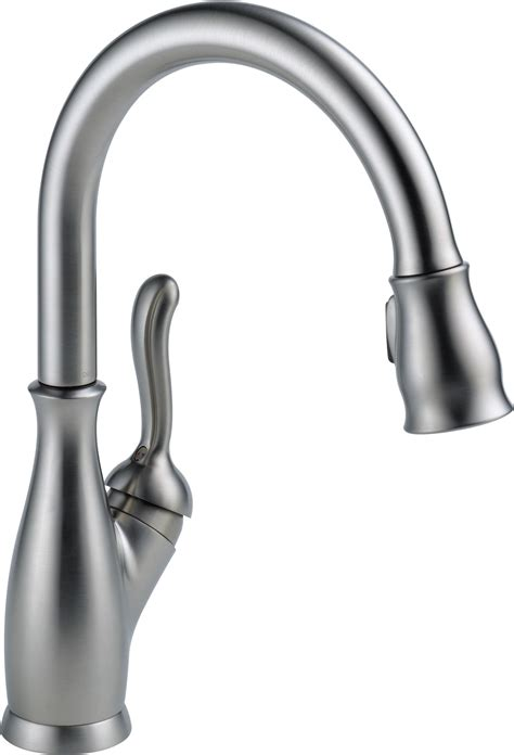 amazon delta kitchen faucets delta faucet 9178 rb dst leland single handle pull down