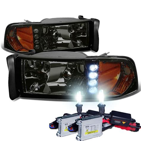 hid lights for trucks hid xenon 94 01 dodge ram pickup 1 piece led crystal
