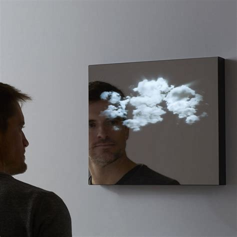 cool mirror lucid mirror adds a moving cloudscape to your reflection