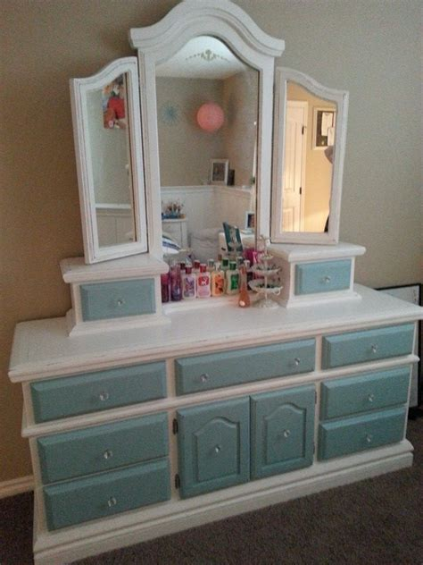 White Dresser With Blue Drawers by Alyssa S Dresser White With Teal Blue Drawer Fronts