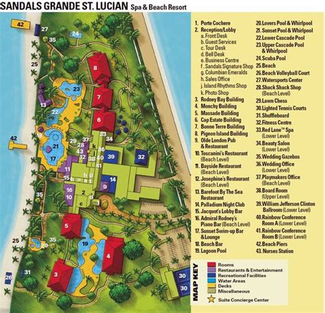 sandals royal caribbean resort map sandals grande st lucia resort map www romanticplanet ca