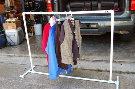 diy pvc pipe portable clothes rack biz