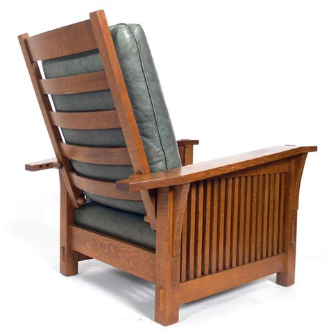 stickley morris chair recliner stickley mission oak morris chair at 1stdibs