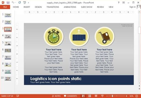 Animated Supply Chain Powerpoint Template Supply Chain Presentation Template