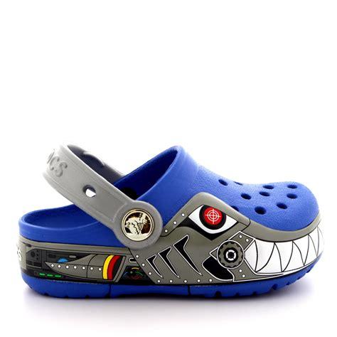 Light Up Crocs by Boys Crocs Crocslights Robo Shark Summer Slip On