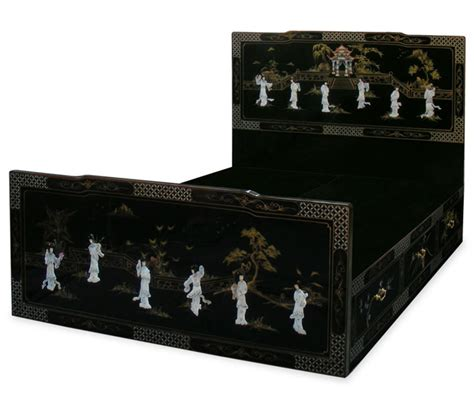 chinese furniture china furniture china elegant mother black lacquer queen size of platform bed