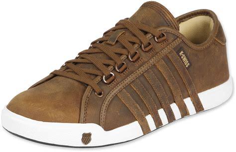 k swiss newport shoes brown white