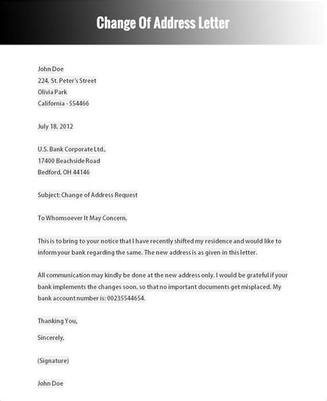 formal letter templates word formats