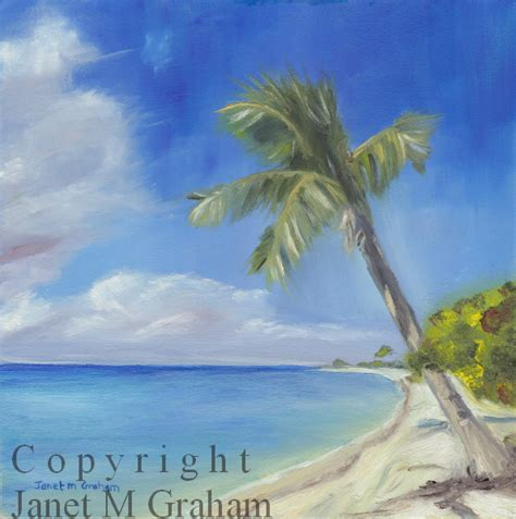 Zr Tropical janet m graham s painting tropical island in oils