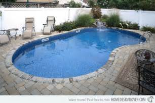 The sides of this kidney shaped pool the vacant area is used smartly