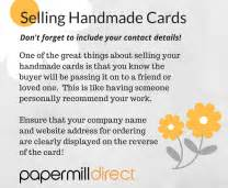 How To Sell Handmade Cards - how to sell handmade cards papermilldirect