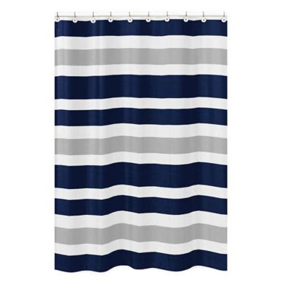 Navy And Grey Curtains Buy All In One Shower Curtains From Bed Bath Beyond