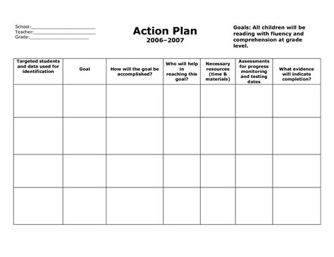 action plan format paid receipt template timeline sle