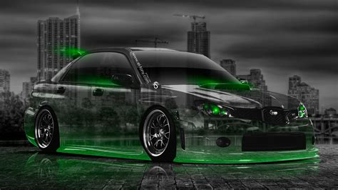green subaru wrx subaru impreza wrx sti jdm crystal city car 2014 el tony