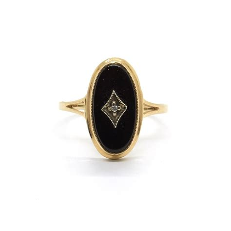 antique onyx and ring natalie jewellery