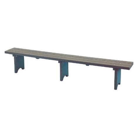standing bench plastic bench free standing 10 ft